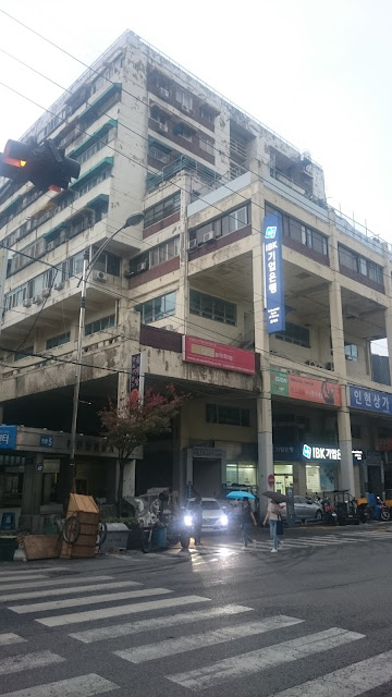 Ugly building in Myeongdong, central Seoul
