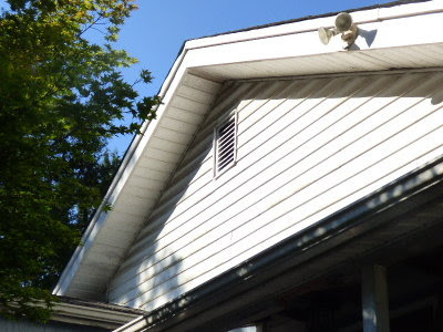 Neither Dan nor I was too keen on cutting a hole in the roof and since we have gable vents on all the gables we opted for a solar gable fan. & 5 Acres u0026 A Dream: Solar Attic Fan