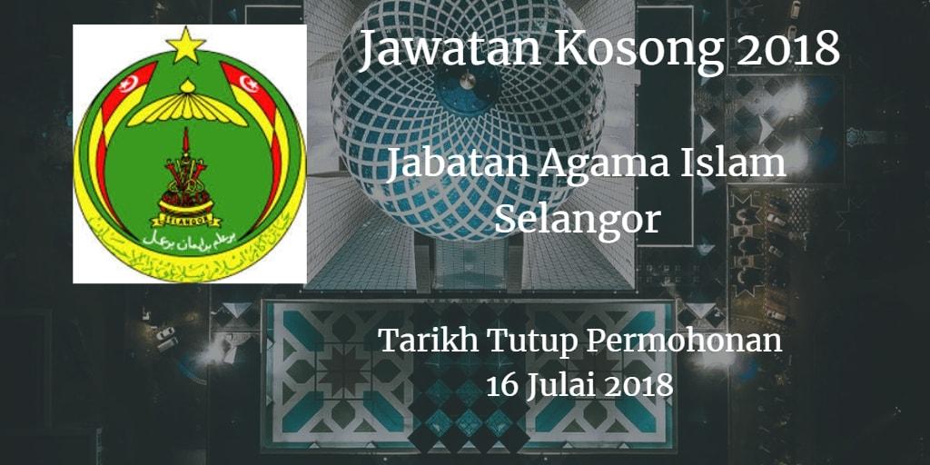 Jawatan Kosong JAIS 16 Julai 2018