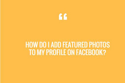 How do I add featured photos to my profile on Facebook?
