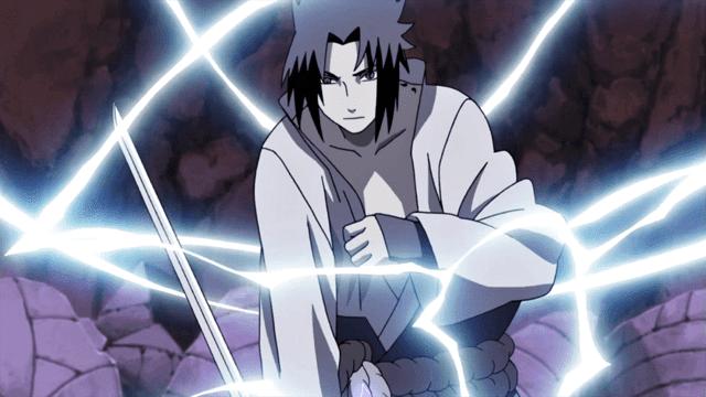Mengalirkan chidori ke pedang Kusanagi