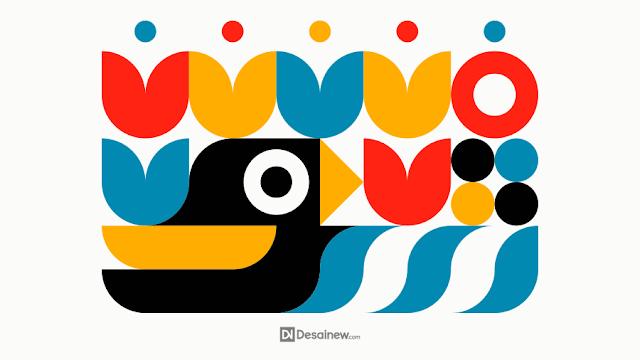 Geometric Nature Illustration Tutorial in Inkscape Adobe illustrator corel draw vector design tip and trick