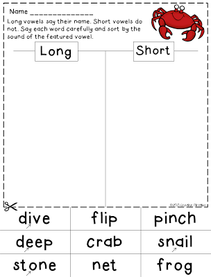 Long Short Vowel Sorts