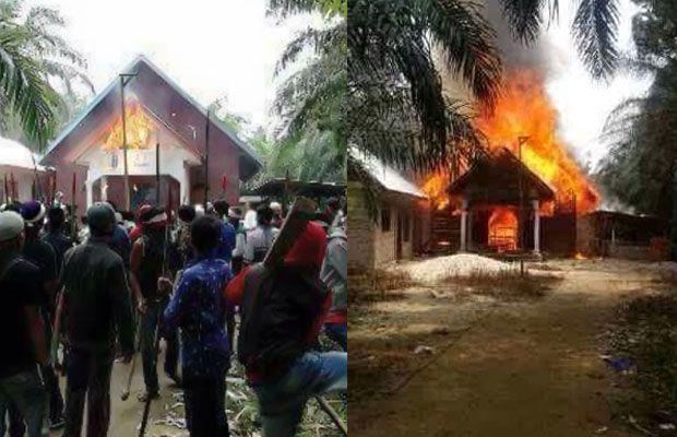 Konflik SARA di Aceh Singkil, Satu Gereja Dibakar, 2 Orang Tewas