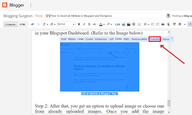 Add alt attribute in Blogspot- Step 2