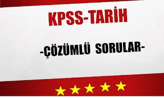 kpss tarih çözümlü sorular