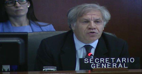 """Almagro pidió acoger a """"desplazados"""" por la """"dictadura"""" venezolana"""