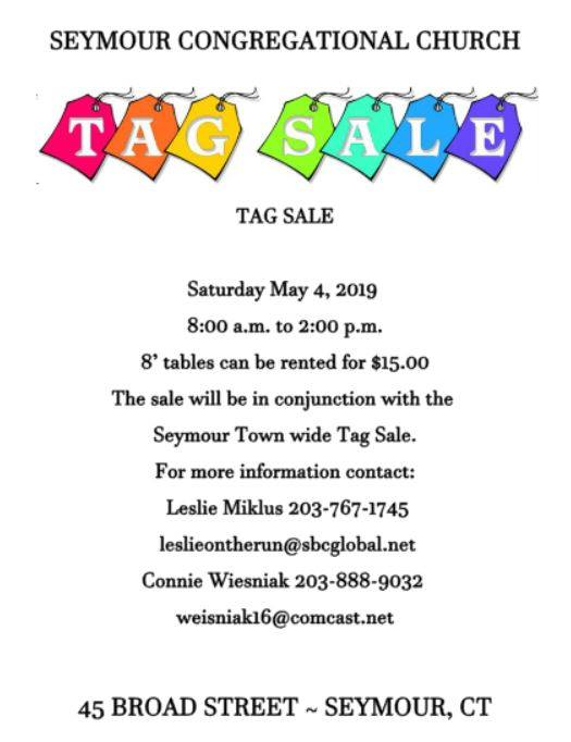 The Valley Voice: Seymour Congregational Church slates tag sale