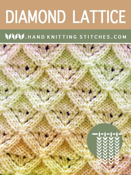 The Art of Lace Knitting - Diamond Lattice Lace Pattern.