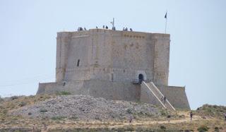 Torre de Santa María, isla de Comino, Malta.