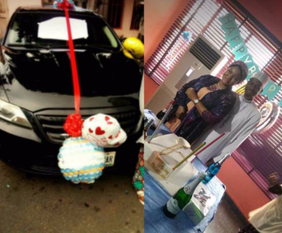 Pics On Social Media Of How Her Sister In Law Organized A Surprise Party For Husbands 49th Birthday And Also Bought Him Car As Gift