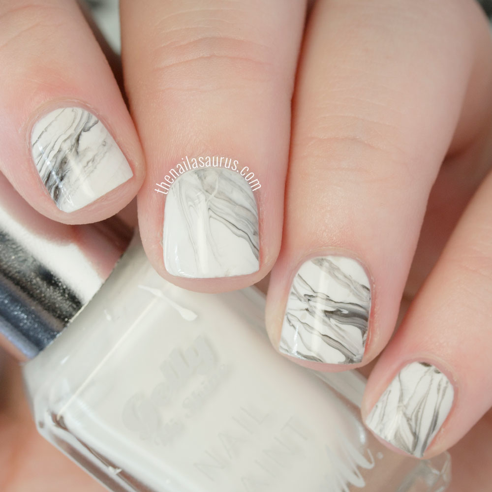 Marble Nail Art Using A Stamper: DIY