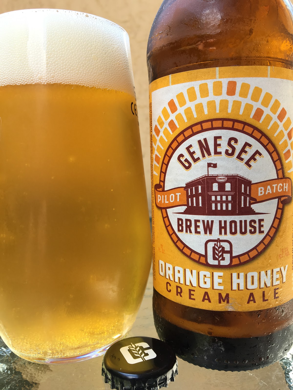 daily beer review: genesee brew house orange honey cream ale