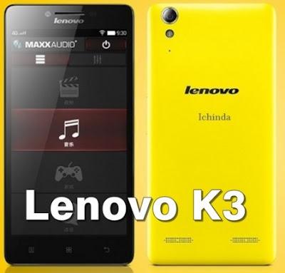 Harga HP Lenovo K3 Tahun 2017 Lengkap Dengan Spesifikasi | Kamera 8 MP Memori Internal 16 GB RAM 1GB Support 4G LTE