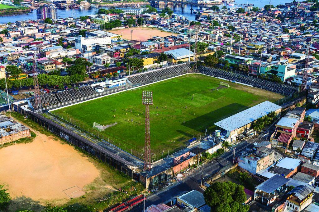 Inaugurado  19 de fevereiro de 1961 (São Raimundo 1x8 Sport-PE) Primeiro  gol  Mário (Sport-PE) Recorde de público  23152 pessoas (Nacional 0x0 Rio  Negro em ... 30d224a6d9ac3