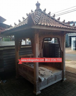 Gazebo Jati Ukir Mini