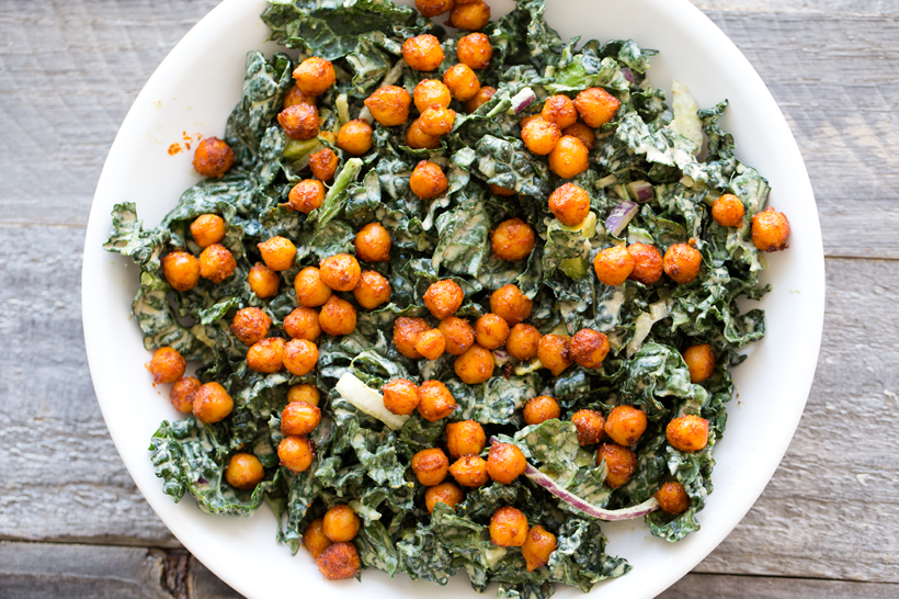 peanut kale with chickpeas