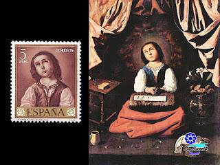 Francisco de Zurbarán - Virgen niña 1630