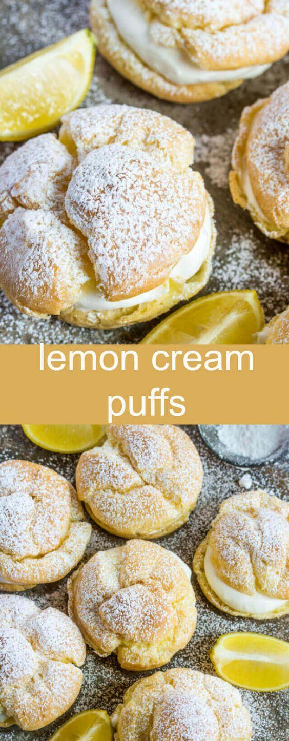 Lemon Cream Puffs #dessert #american #lemon #cream #puffs
