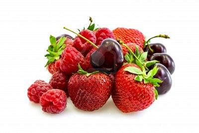Decor Fruit Rouge Sur Un Coeur