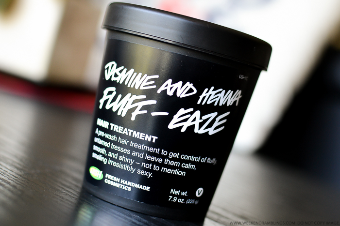 Lush Jasmine and Henna Fluff-Eaze Hair Treatment Deep Conditioning Prewash Mask - Natural Haircare - Review