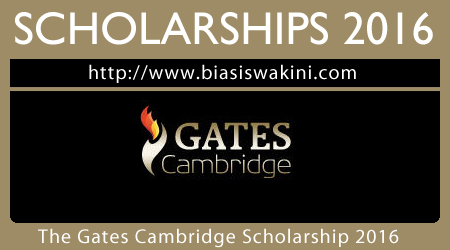 The Gates Cambridge Scholarship 2016