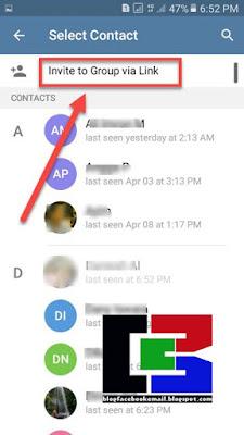 cara mengshare link grup telegram