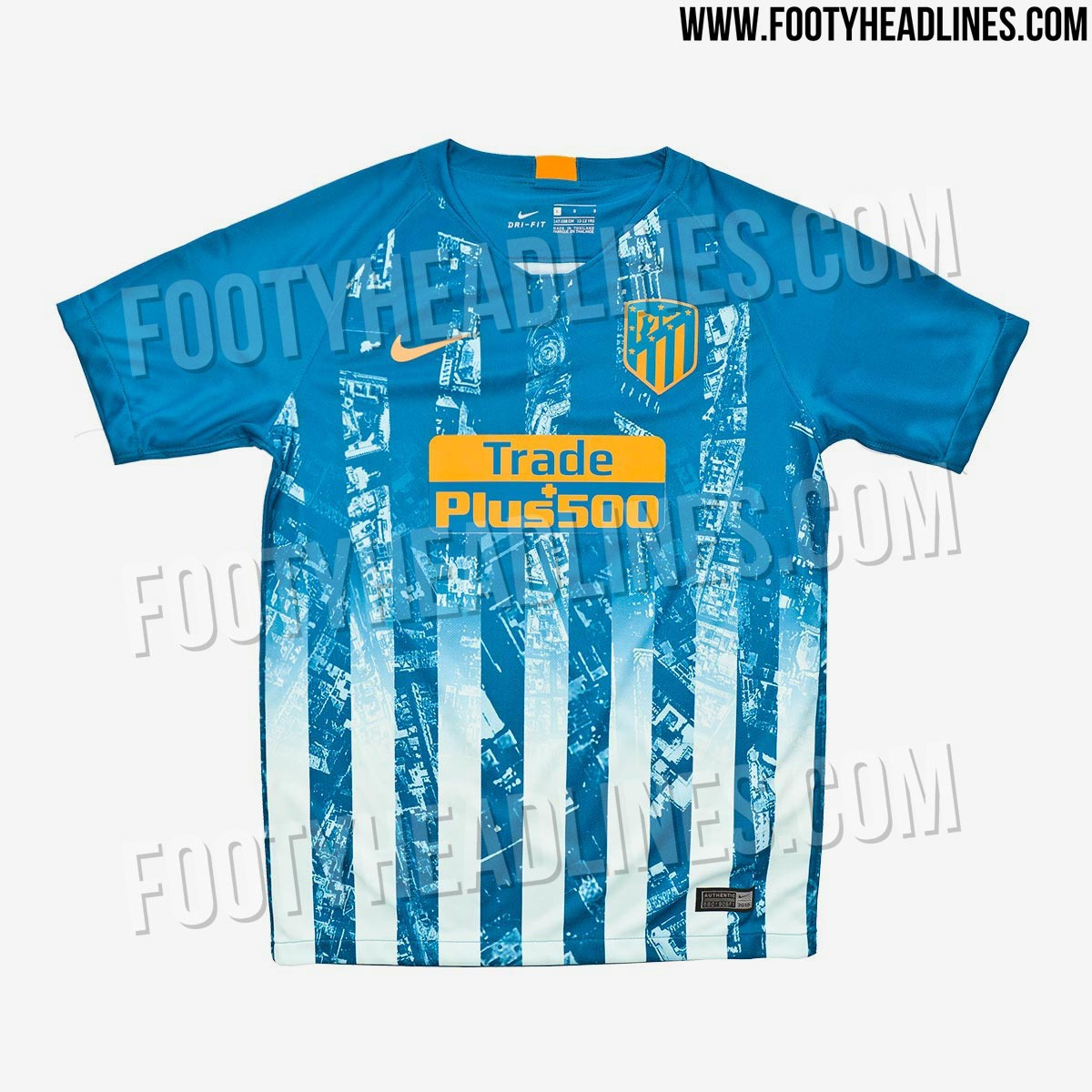 be5ad1c93f8 Atletico Madrid Away Kit 18 19 – Verein Bild Idee