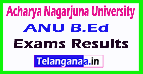 Acharya Nagarjuna University ANU B.Ed Exam Results
