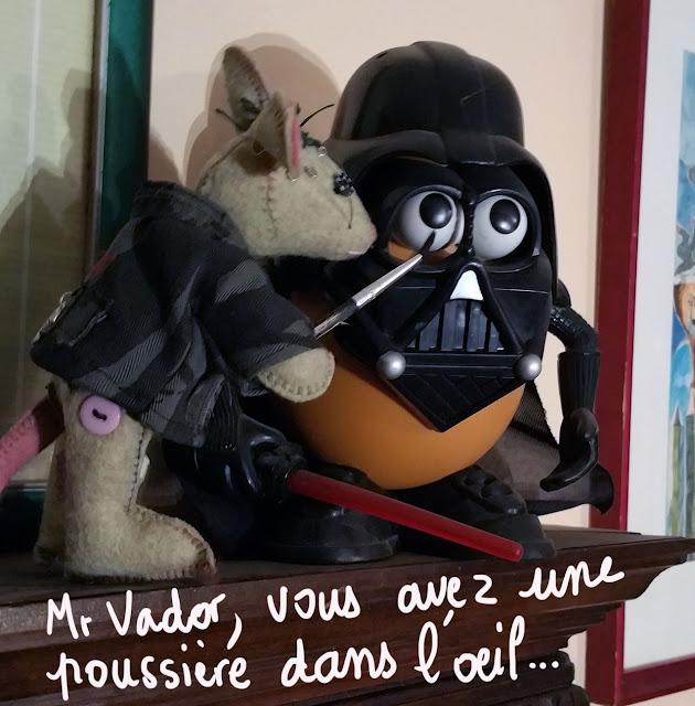 mouse, feltoys, Dark Vador, Darth Vader, star wars