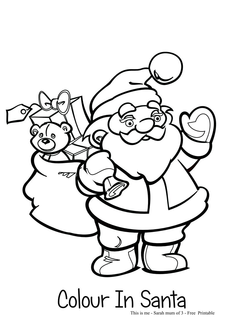86 ideas colour in santa on emergingartspdx com