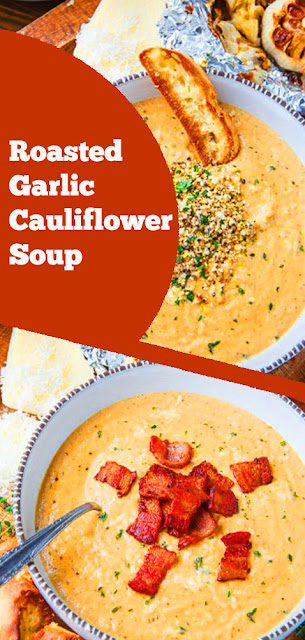 Roasted Garlic Cauliflower Soup | recipes soup | recipes cauliflower | recipes dinner | main dish #roasted #garlic #cauliflower #soup #dinner #maindish