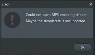 Tidak bisa render mp3 di Fl studio 11 atau 12