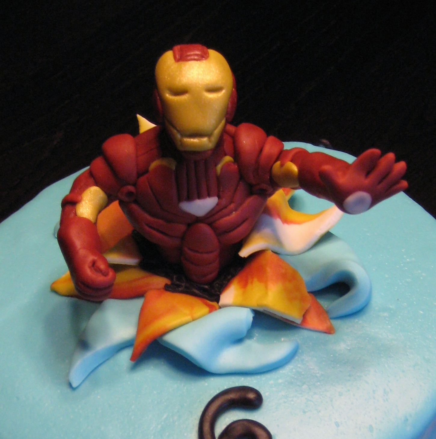 Iron Man Cake Decorations Birthday