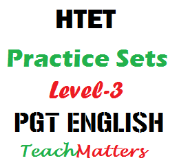 image : HTET Practice Sets for Level-3 PGT English