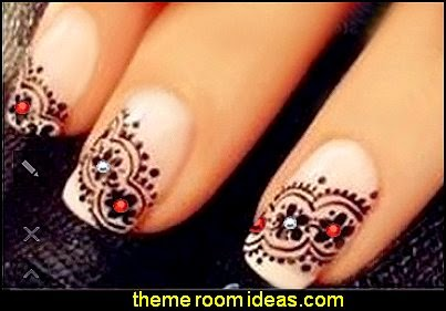 Black Lace Flower Nail Art Sticker Decal Nail Stickers Nail Art Decoration