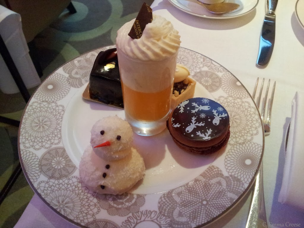 Christmas Afternoon Tea at the InterContinental London Westminster.