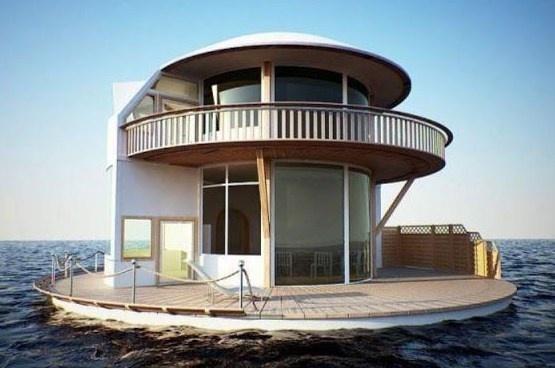 Actualit s architecture cycle maison insolite l 39 ile flottante - Maison flottante ...