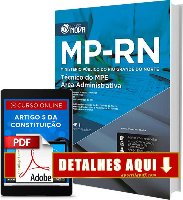 Apostila MP RN 2017 Técnico Área Administrativa Impressa