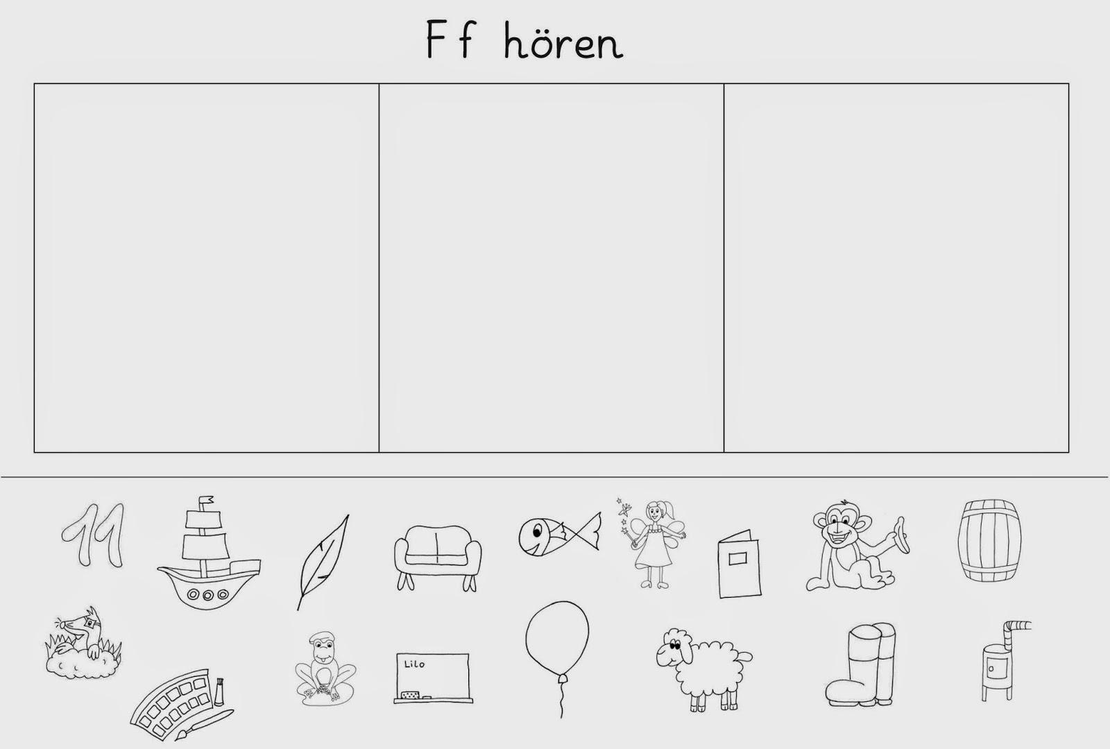 lernst bchen f s n arbeitsbl tter zum h ren. Black Bedroom Furniture Sets. Home Design Ideas