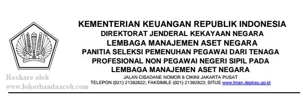 Penerimaan Non PNS Kementerian Keuangan RI 2017