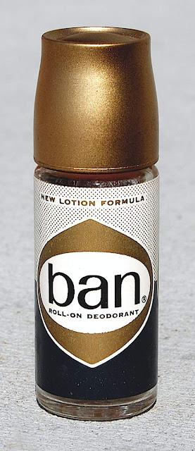 photo of 1960s Ban deodorant packaging