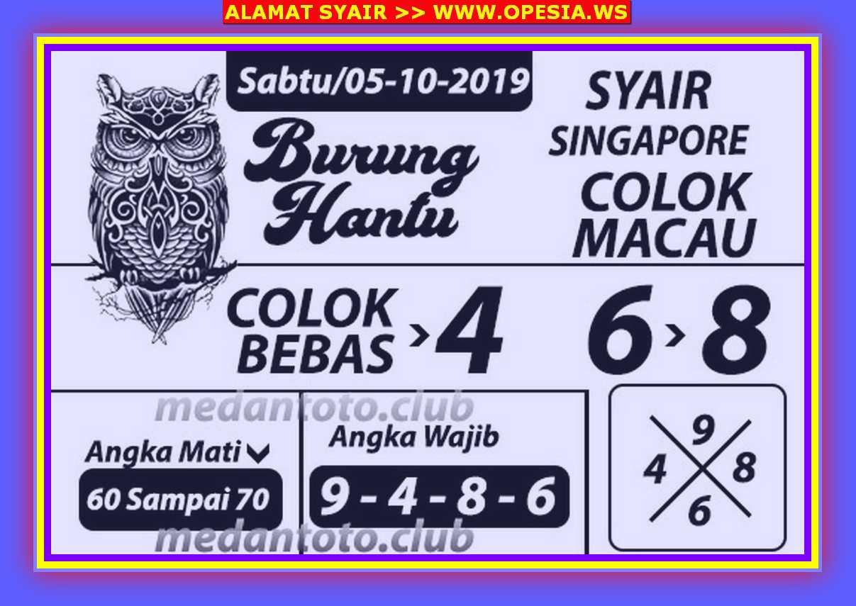 Kode syair Singapore Sabtu 5 Oktober 2019 65