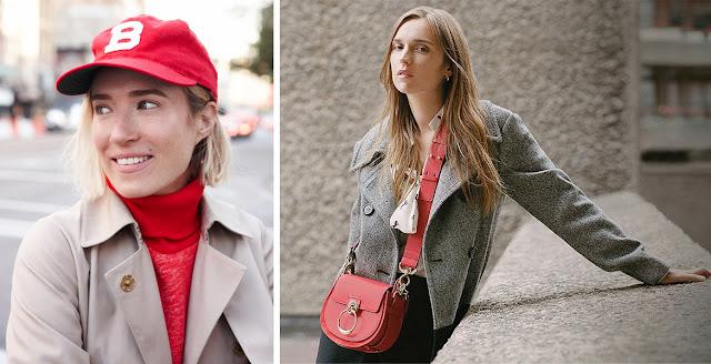 Красный + бежевый в одежде