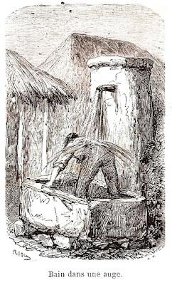Banho de fonte.