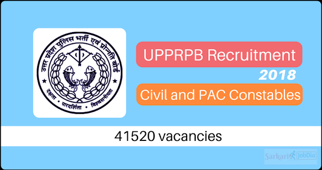 UPPRPB Recruitment 2018 - Police Constable - 41,520 Posts