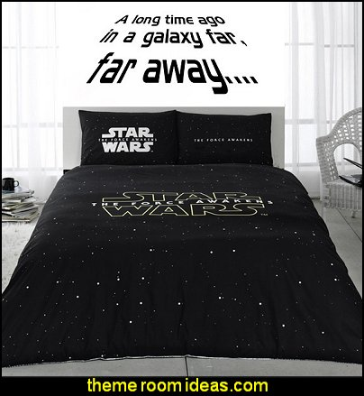 Star Wars Wall Art Sticker Wall Decal  Star Wars the Force Awakens Comforter Set Bedding Linen
