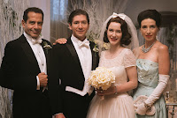 Tony Shalhoub, Marin Hinkle, Rachel Brosnahan and Michael Zegen in The Marvelous Mrs. Maisel (32)