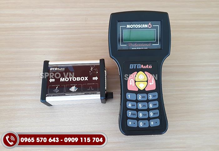 máy đọc lỗi xe máy FI Motosacan 6.1 và phụ kiện motobox