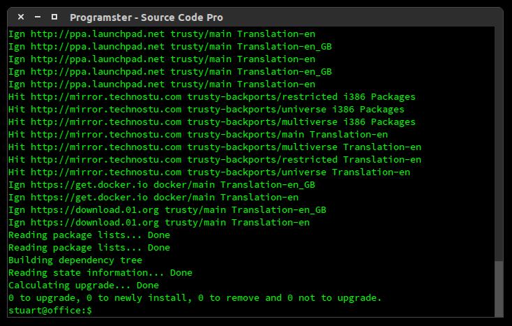 Programster: Ubuntu - Install Source Code Pro